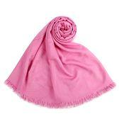 HERMES 經典素色logo羊絨混絲披肩圍巾(粉色)179146