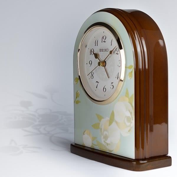【分期0利率】SEIKO 日本精工 木質外殼 鋼琴烤漆 座鍾 鬧鐘 全新原廠公司貨 QHE055L