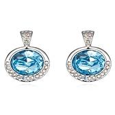 水晶耳環 925純銀耳針式-鑲鑽圓形生日情人節禮物女飾品5色73bd235【時尚巴黎】