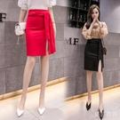包臀裙半身裙女季新款氣質性感開叉一步裙緊身高腰顯瘦 洛小仙女鞋