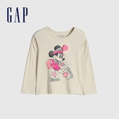 Gap女幼童 Gap x Disney 迪士尼公主系列圓領長袖T恤 649452-米妮圖案