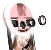 美顏手機鏡頭補光燈瘦臉神器廣角主播光圈網紅拍照直播自拍環-Ifashion