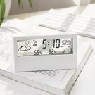 鬧鐘 日式簡約現代多功能電子時鐘學生數字桌面用臥室靜音透明小型鬧鐘【快速出貨八折鉅惠】