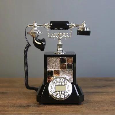 樣板間客廳臥室裝飾品擺件 復古電話機座機工藝品擺設