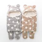 星星加厚羊羔絨保暖寶寶睡袋 兒童睡袋 加厚睡袋