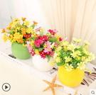 F0664 純色簡約現代圓球豆芽陶瓷家居小花瓶花器花插 結婚家裝飾品擺件