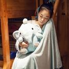 【限時下殺89折】河馬抱枕被子兩用兒童安撫枕頭汽車辦公室珊瑚絨空調午休毯子女男