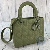 BRAND楓月 Christian Dior 迪奧 抹茶綠 霧面黛妃包 LADYDIOR 5*5 新版 M0565 提包