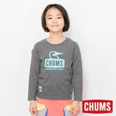 CHUMS 日本 童 Booby 長袖圓領T恤 炭黑 CH211043G012
