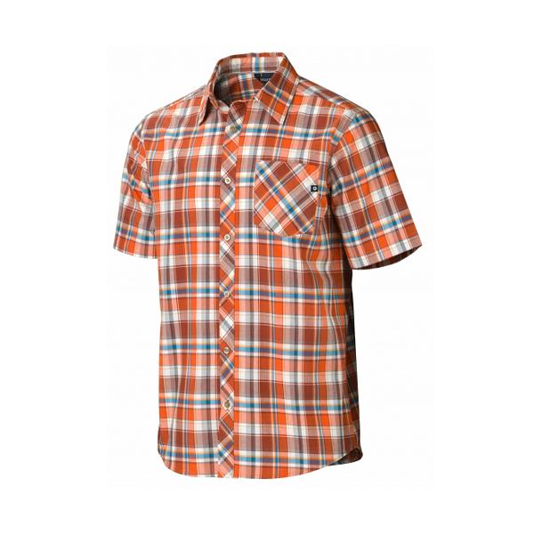 [Marmot] Homestead (男) 短袖襯衫 桔紅 (M52660-6198)
