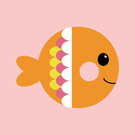 LOVIN 超萌韓版數字油畫動物系列可愛七彩魚(8) 1幅