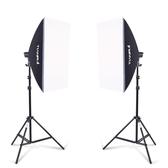單燈頭柔光箱2燈套裝攝影棚攝影燈柔光箱套裝攝影器材補光燈 黛尼時尚精品