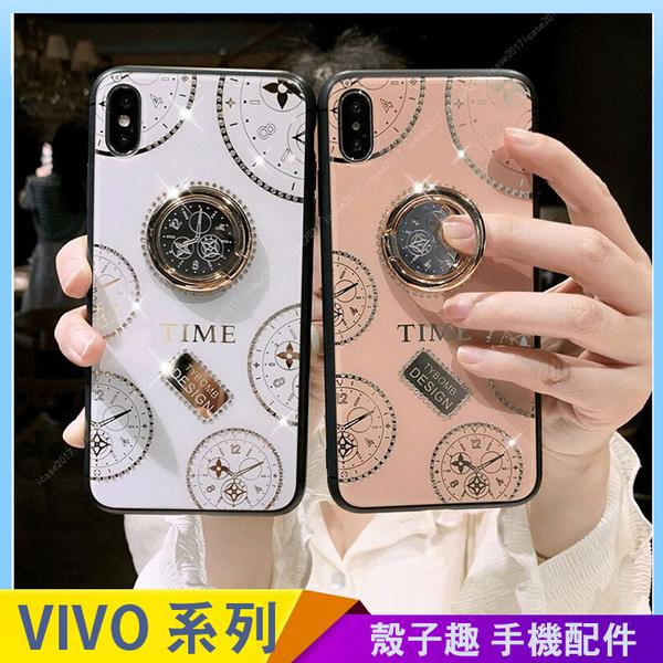 網紅時鐘 VIVO X60 X50 pro Y50 Y19 Y12 Y17 手機殼 手機套 鋼化玻璃 指環扣支架 全包邊防摔殼