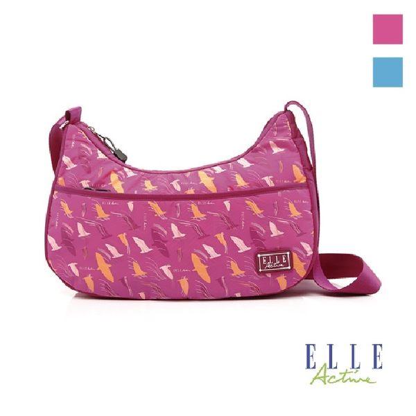 Backbager 背包族 【ELLE Active】自由鴿系列 彎月側背包/隨身包/斜背包 粉紅色/藍色