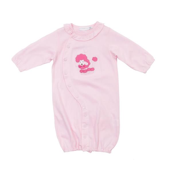 【愛的世界】純棉橫紋兩用嬰衣/3~6個月-台灣製- ★幼服推薦