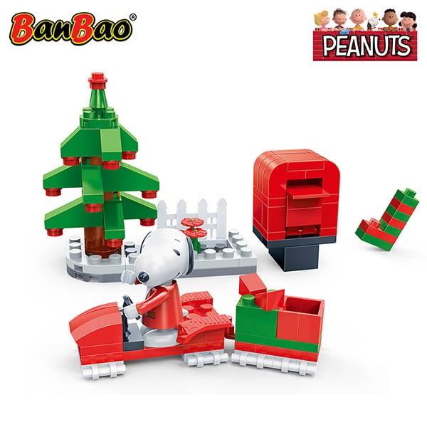 幸福雪橇車 BanBao邦寶積木 史努比系列 Peanuts Snoopy 7541