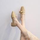 低跟鞋 新款百搭英倫風小皮鞋低跟粗跟晚晚風溫柔早女鞋單鞋