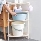 浴室置物架 衛生間臉盆架廁所洗手間塑料收納架子多層三角架落地式TW【快速出貨國慶八折】