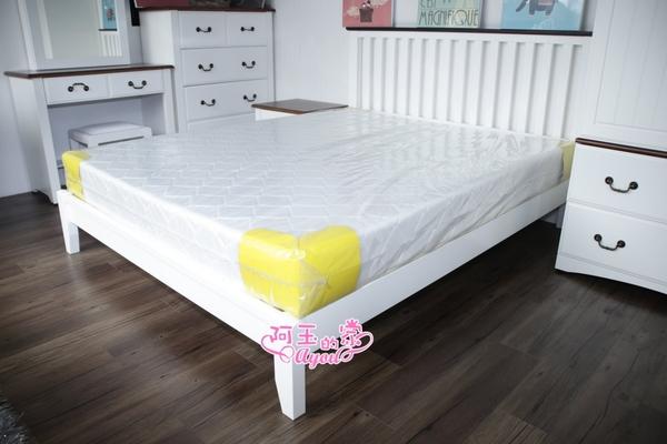 小丸子雙人硬式白色5尺床墊 ~限時搶購中(大台北免運費)【阿玉的家2021】
