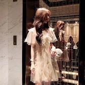 小仙女裙chic溫柔套裝裙女春新款網紗洋裝洋氣網紅兩件套夏