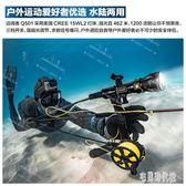 邁闊者潛水手電筒100米MIKOZE水陸兩用強光15w戶外強光L2防水手電LXY2652【宅男時代城】