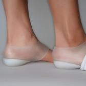 隱形內增高鞋墊矽膠神器套腳女男仿生後跟後跟套穿在襪子裏的鞋墊   極有家