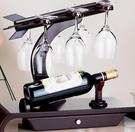 酒架 紅酒架擺件紅酒杯架倒掛酒瓶實木歐式創意葡萄酒展示架創意擺件 DF 雙12 DF