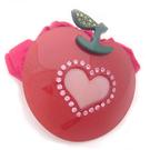 【粉紅堂 髮飾】可愛愛心圖案蘋果水鑽髮束