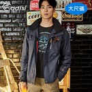 ADISI 男Primaloft可拆帽防水透氣保暖外套(短版) AJ1721006-1 (3XL) 大尺碼 / 城市綠洲專賣