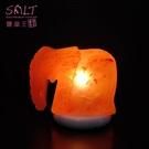 鹽燈專家【鹽晶王】玫瑰鹽(大象)造型鹽燈,居家風水擺飾,開運旺財,富貴滿堂。