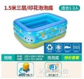 充氣泳池 兒童充氣游泳池家庭家用超大號大型室內加厚嬰幼兒寶寶洗澡戲水池 朵拉朵YC