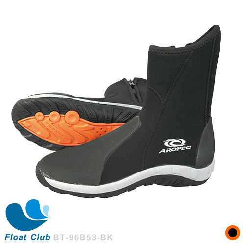 AROPEC 5mm高筒溯溪鞋(橘底) 膠底鞋 潛水鞋 Submarine 岩石 海灘 船上均適用