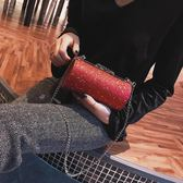 女包2018新款波士頓枕頭包時尚迷你圓筒包女士單肩斜挎包鍊條小包 後街五號