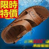 涼鞋-優質夏季透氣休閒皮革男休閒鞋4色54l5【巴黎精品】