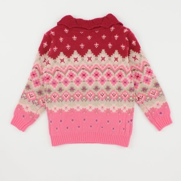 【愛的世界】混羊毛翻領毛衣/6~12歲-台灣製- ★秋冬上著