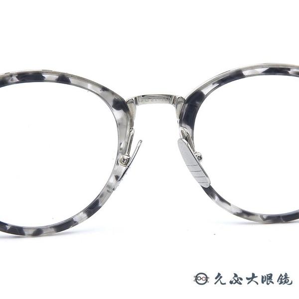 Thom Browne 眼鏡 TBX908--01 (透灰-銀) 極薄 圓框 近視眼鏡 久必大眼鏡
