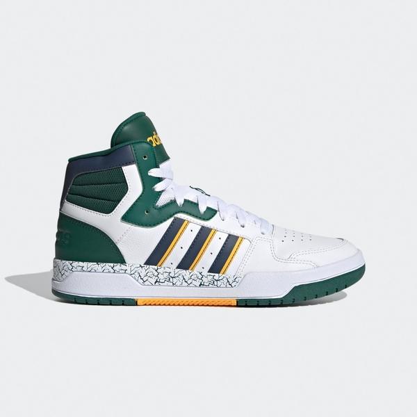Adidas Neo Entrap Mid [FZ1111] 男鞋 運動 休閒 高筒款 籃球鞋 愛迪達 穿搭 白綠