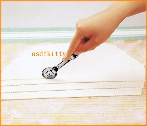 廚房【asdfkitty】 貝印KAI不鏽鋼派皮壓花夾+滾刀/輪切刀-日本製