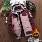 衝鋒外套冬季沖鋒衣男女士保暖棉衣加絨加厚大碼棉襖防風防水工裝登山 快速出貨