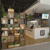限定款屏風櫃 玄關櫃 書架奶茶店裝飾美式loft辦公室居家裝飾鐵藝架子jj