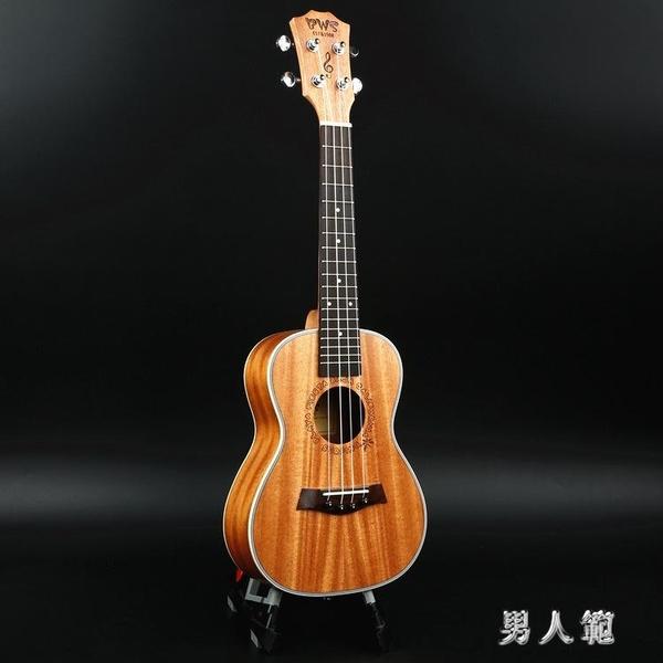 26寸烏克麗麗夏威夷四弦琴小吉他白邊全桃尤克里里  zm4361『男人範』TW