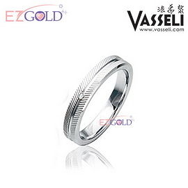 VASSELI ◤愛在倫敦◢ 鎢鋼鑽石戒(女)
