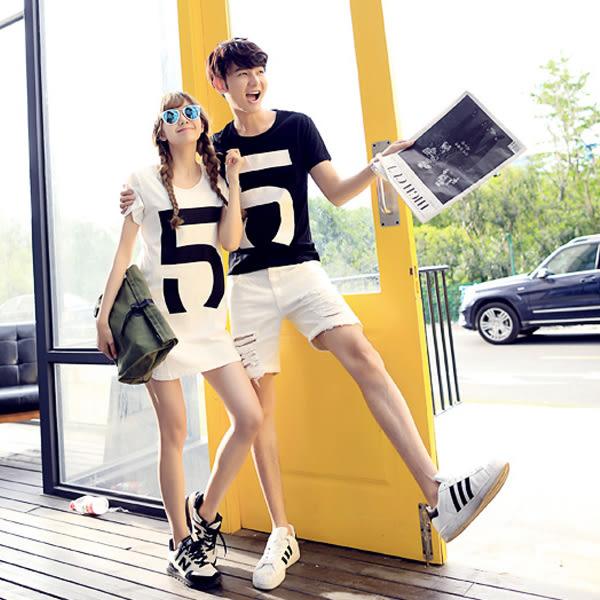 24小時快速出貨  潮T情侶裝  純棉短T MIT台灣製【Y0315】短袖- 5 可單買 男女可穿