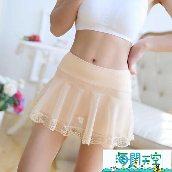 安全裙里白色短安全褲夏天超短花邊肉色200蕾絲角內穿韓版群裙 海闊天空