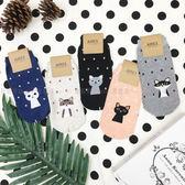 【KP】襪子 造型襪 可愛 貓咪系列 點點 流行襪 短襪 韓國製 DTT100007724
