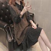 套裝女兩件套毛衣馬甲春裝時髦套裝針織背心裙潮 伊衫風尚