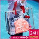 【現貨】梨卡 -大容量PVC防水透明沙灘...