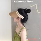 空頂帽 紫外線遮陽帽女夏天防曬帽子百搭時尚網紅款空頂帽草帽無頂太陽帽 愛丫 免運