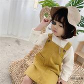 韓版兒童背帶裙女童A字背心吊帶裙連身裙【時尚大衣櫥】
