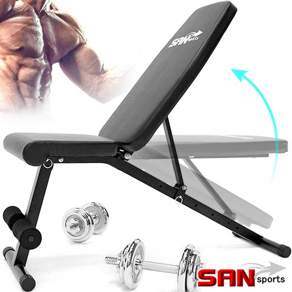 重量訓練機啞鈴椅.角度調整型仰臥起坐板臥推椅啞鈴凳子運動健身器材推薦哪裡買ptt【山司伯特】